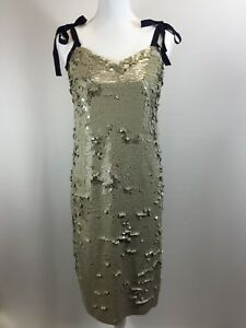 3594749c New JCREW COLLECTION Tie-shoulder Sequin Dress 2 G5352 Desert Canyon ...