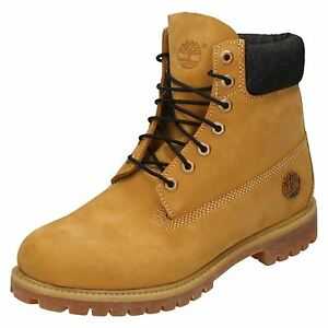 4123a715b313 Details about MENS TIMBERLAND LACE UP LEATHER DENIM CUFF CASUAL ANKLE BOOTS  38521