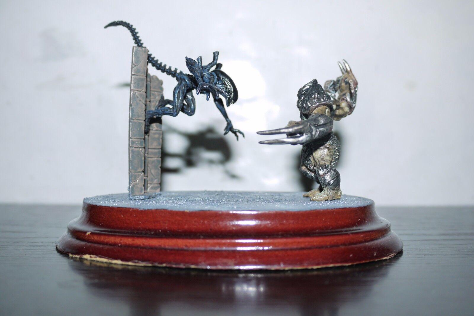 Avp alien vs protator wand und miniatur - diorama pvc horrorclix umbasierten