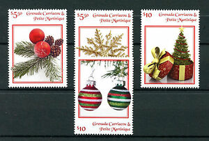 Grenadines of Grenada 2016 MNH Christmas Ornaments Decorations 4v Set Stamps