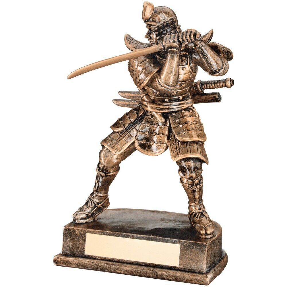 203mm Samurai Warrior, Martial Arts Trophy, Award, FREE Engraving (RF31) td