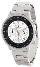 Croton Chronomaster Mens Silver & Black Dial Steel Bracelet Watch CC311304