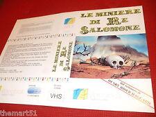 Locandina vhs LE MINIERE DI RE SALOMONE (1986) -   Videobox - originale - used