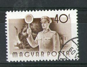 Brillant Hongrie 1955 Guard & Locomotive à Vapeur Timbre Commémoratif Sg 1419 Vfu