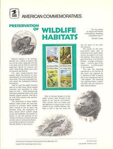 145-18c-Wildlife-Habitats-1876-1879a-USPS-Commemorative-Stamp-Panel