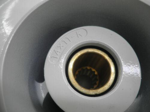 """New Yamaha 4.25/"""" Gearcase 14 x 11 Aluminum Propeller Prop 6E5-45954-00-00"""
