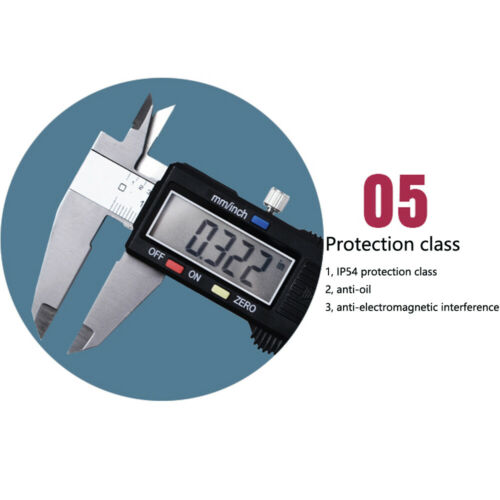 "UK 6/"" 150mm LCD Stainless Steel Caliper Electronic Digital Vernier Caliper Gauge"