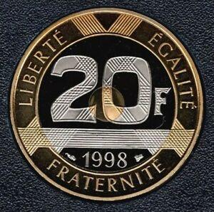 """7404 Exemplaires 20 Frs 1998 BELLE ÉPREUVE état Monnaie Neuve """" Mts St Michel """""""