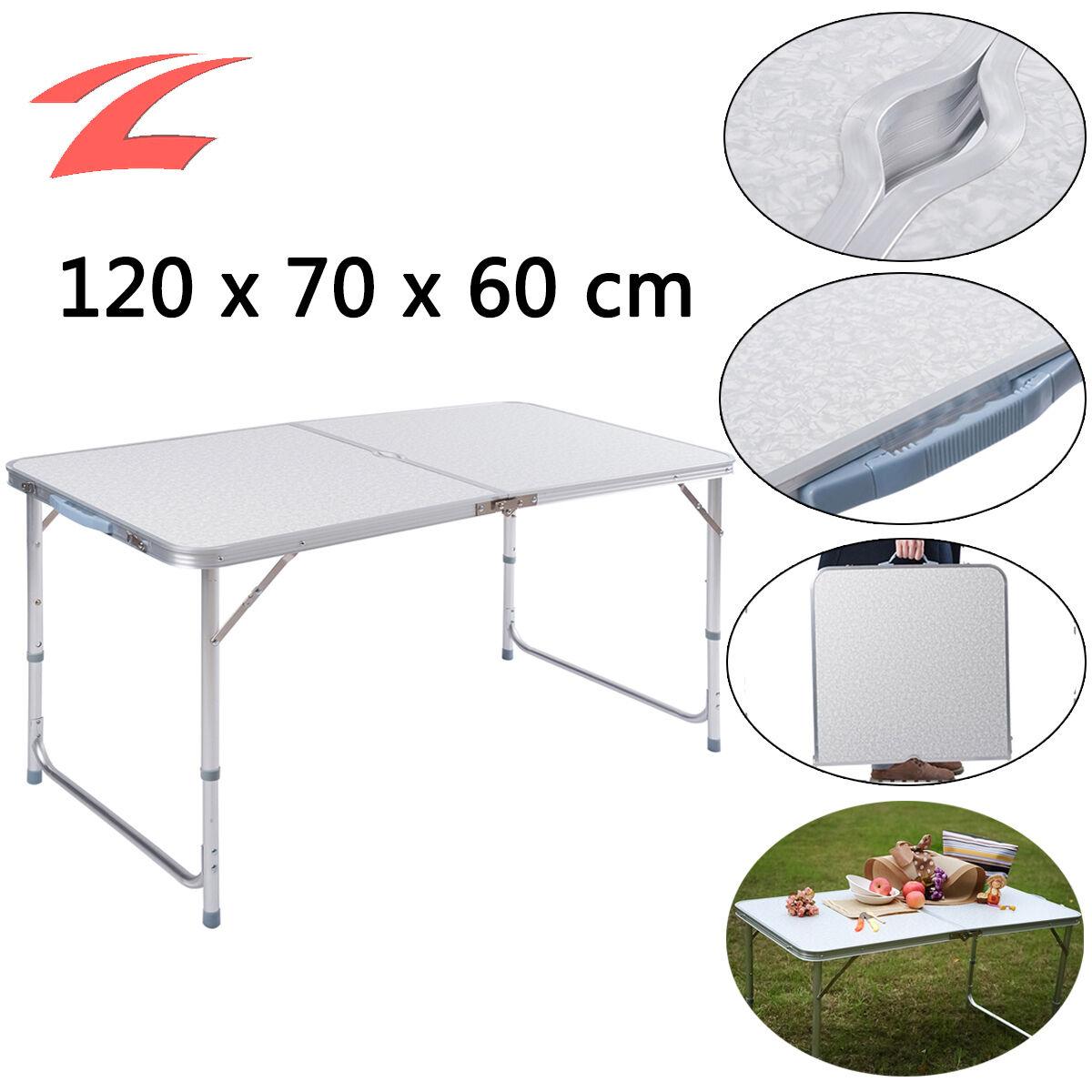 Aluminium Camping Table 120x70x60cm Falttisch Table pliante ...