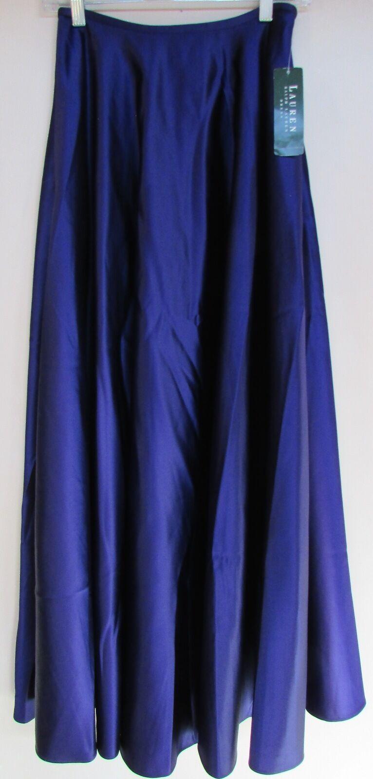 169.00 NWT Ralph Lauren Long Full Formal Skirt  Royal Purple  Chamonix  Sz 4