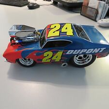 1969 NASCAR CHEVY CHEVELLE SS #24 JEFF GORDAN MUSCLE MACHINES 1:18 SCALE DIECAST