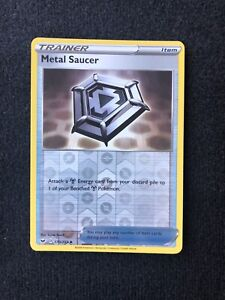 NM Uncommon Reverse Holo Pokemon Card Sword /& Shield Metal Saucer 170//202