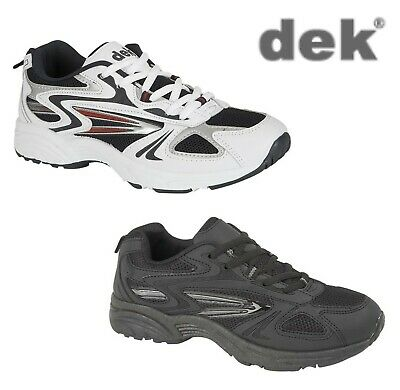 Mens Running Fitness Trainers - White And Navy Or Black - Size 7 8 9 10 11 12 13