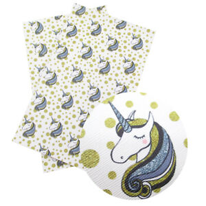 20-34cm-Unicorn-Printed-Faux-Leather-Fabric-For-DIY-Handmade-Projects