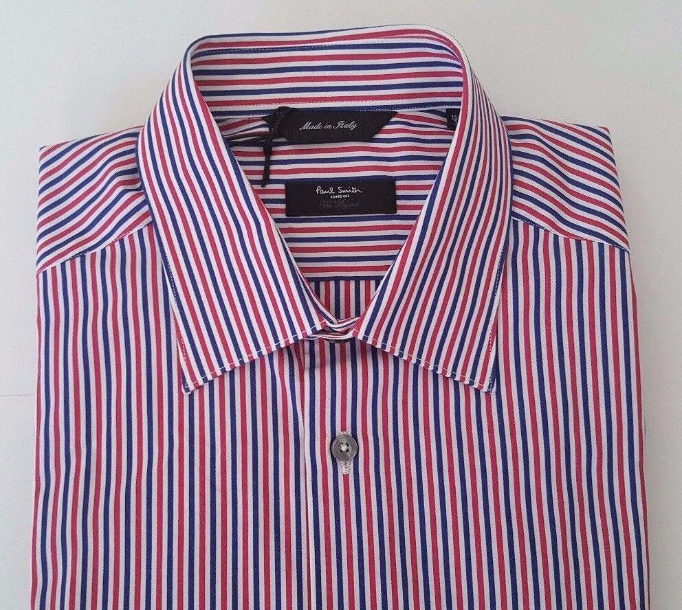 premium selection 3299b bcee7 Paul Smith Shirt Size 15 MEDIUM The Bryard Navy Red Multi ...