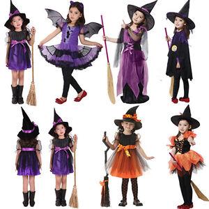 Elegant Kids Boys Girls carnival Wizard Witch Costume Halloween Party Dress Robe