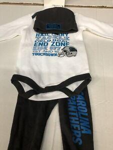 7f27d472 Details about NFL Carolina Panthers kids 3 piece Outfit,Hat,Shirt,Pants 0/3  months