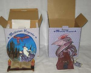 a897730d97b8 LOT OF 2 MEDIEVAL LEGENDS COLLECTION 30077 & 31400 MERLIN & DRAGON ...