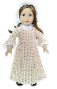 Doll-Clothes-18-034-Doll-Colonial-Dress-Fits-American-Girl-Doll-Felicity