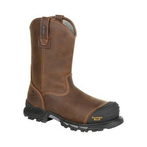 "Georgia Boot Men/'s   GB00286 10/"" Rumbler Comp Toe Waterproof Work Boot"