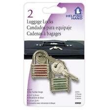 LUGGAGE LOCKS - SET OF 2 LOCKS AND KEYS - UPC # 070792400609-FAUCET QUEEN #40060