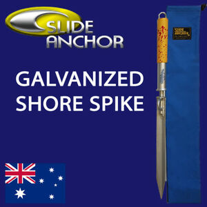 Slide Anchor Sand Shore Spike Small Suits Boats to 22 Feet Storage Bag Included