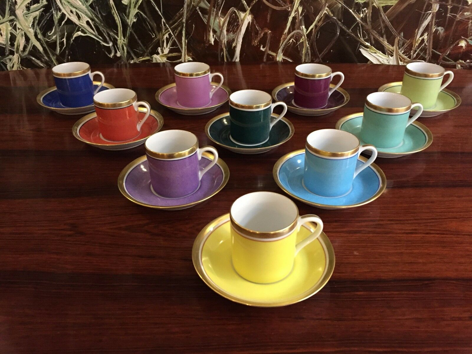 Reichenbach COLOUR COLLECTION, 10 Espresso Tasses avec soucoupes