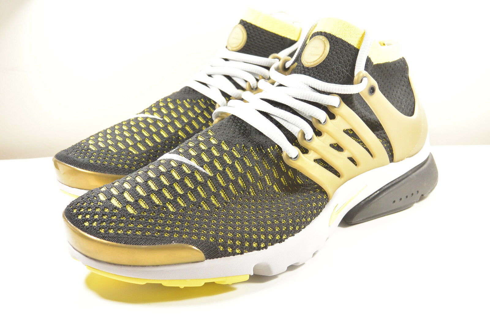 DS NIKE 2017 AIR PRESTO FLYKNIT ULTRA BLACK gold 8, 10, 11 RETRO OLYMPIC SAFARI