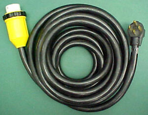 25 Foot 50 Amp Rv Power Cord Detachable Cable With Marinco