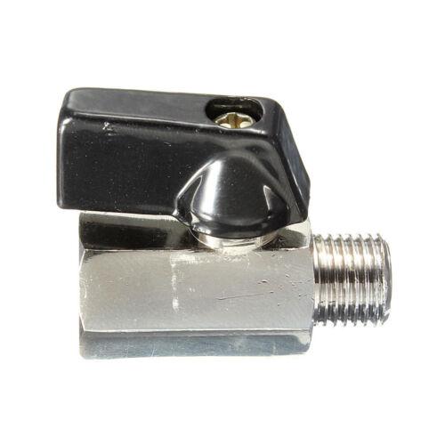 "Chrome Messing DZ1322 1//4/"" Bsp Ball Valve Tap Male  Weiblich Air Compressor Hose"