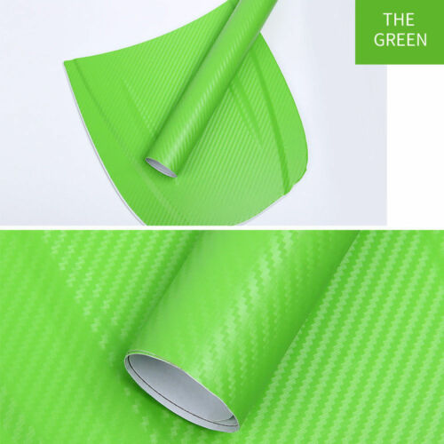 127*30cm 3D Carbon Fiber Vinyl Car Auto Wrap Sheet Roll Film Sticker Decals New