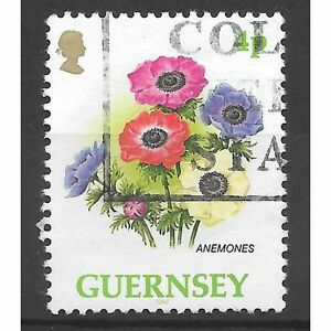 issued 22 may 1992 Anemones  4p Guernsey Flower stamp  see scan - <span itemprop='availableAtOrFrom'>London, United Kingdom</span> - issued 22 may 1992 Anemones  4p Guernsey Flower stamp  see scan - London, United Kingdom