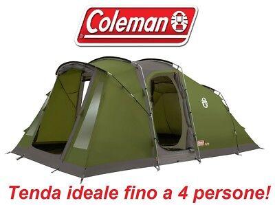 Bello Tenda Familiare Campeggio Vespucci 4 Posti Coleman - Tessuto A Fuoco Ritardato