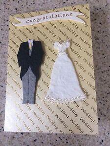 handmade happy wedding day congratulations card bride groom