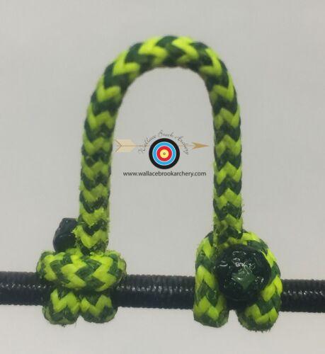 25/' BCY Flo Jaune//Noir Moucheté Boucle D Corde Tir à L/'Arc Bowstring-Corde Drop Away