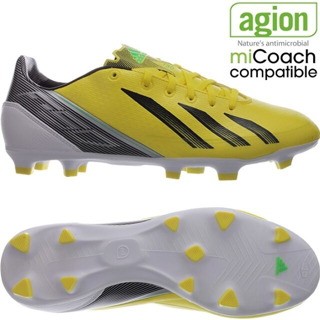 Adidas Mens Sz 12 Adinova II TRX FG Firm Ground Soccer Shoes Cleats Black Yellow