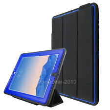 For iPad Air 2 nd 9.7 Otter Shockproof Stand Flip Smart Case Cover Folio Blue US