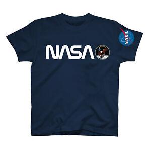 L-039-astronauta-della-NASA-BANDIERA-USA-stampa-con-logo-sulla-tasca-americana-Uomini-Donne-Unisex-T