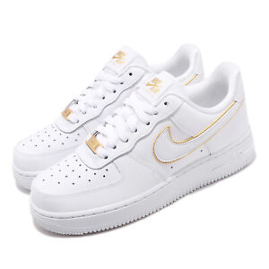 Details about Nike Wmns Air Force 1 07 ESS AF1 White Gold Women Shoes Sneakers AO2132 102