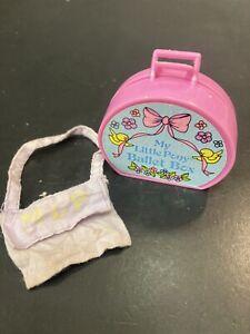 My Little Pony Ballet Box & Satchel Bag MLP Vintage Accessories B5