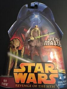 Hasbro Star Wars Kit Fisto Jedi Master Revenge Of The Sith Nib Mint 2005 Ebay