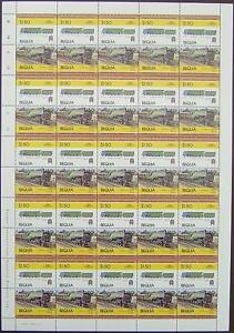1929-LNER-HUSH-HUSH-Class-W-No-10000-Train-50-Stamp-Sheet-Leaders-of-the-World