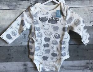 302ba642589a Baby Gap LOGO Boy s L S One-Piece Bodysuit 0-3   3-6 Months Bear ...