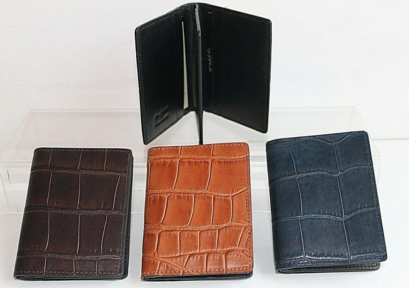 Golunski LEATHER Credit Card Holder / Wallet Blue, Caramel or Brown