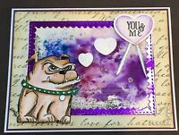 Anniversary / Love - Tim Holtz Crazy Bull Dog - Handmade Card - By Dee