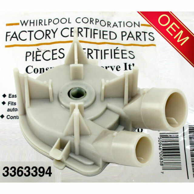 NEW ORIGINAL Whirlpool Top Load Washer Drain Pump Assembly- WP3363394 or 3363394