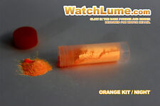 ORANGE GLOW IN THE DARK PAINT WATCH LUME LUMINOUS PASTE KIT LUME FOR WATCH HANDS