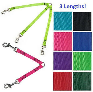 Guardian-Gear-2-or-3-Way-Dog-Coupler-4-034-12-034-or-24-034-Nylon-Lead-Leash-Multiple