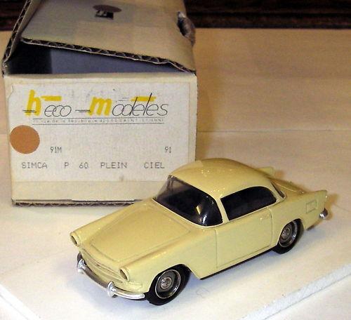 Heco Modeles 1 43 - Simca P60 plein Ciel