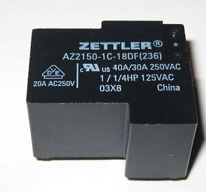 Zettler-AZ2150-40A-Heavy-Duty-Relay-250-VAC-SPDT-Contacts-18-V-Coil
